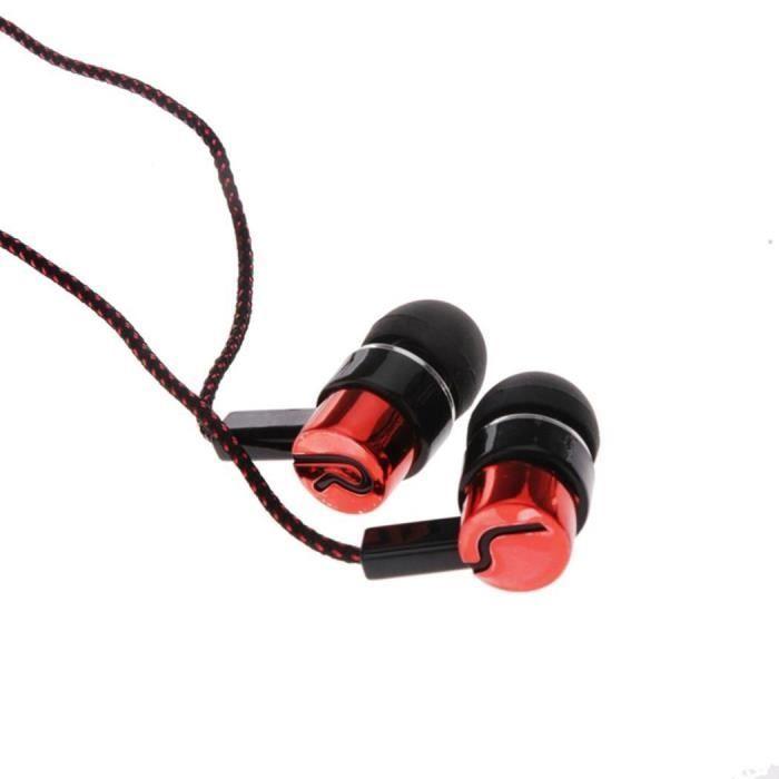 Écouteur Stéréo Intra Auriculaire À Isolation De Bruit Rouge