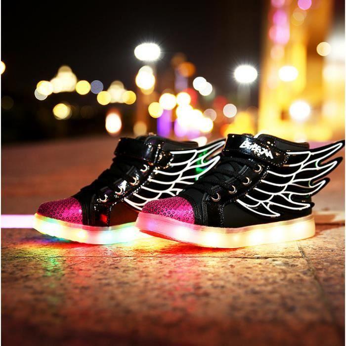 Mode chaud chaussures LED vente d'enfants USB rechargeable Multicolors Lumière