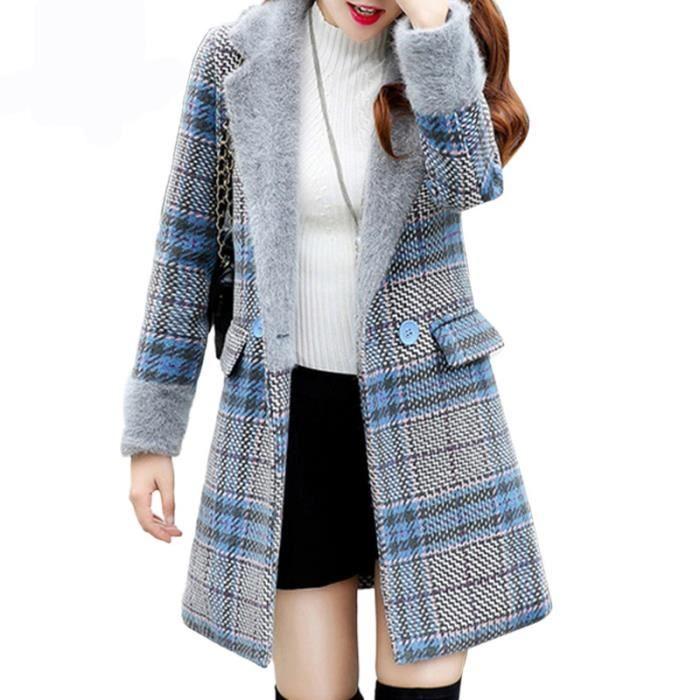 Manteau laine chaud
