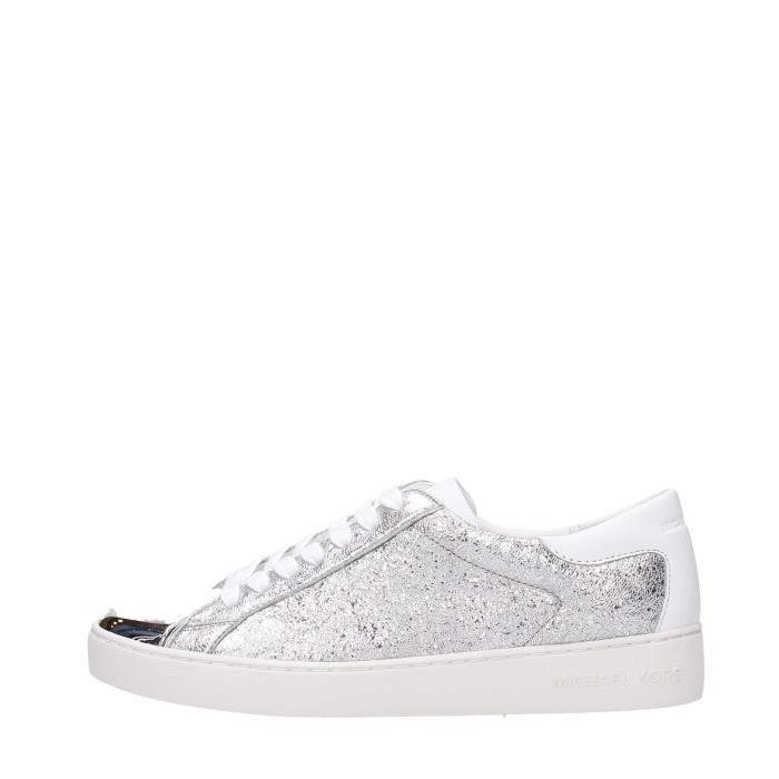 Michael Kors Sneakers Femme Metal Silver, 36
