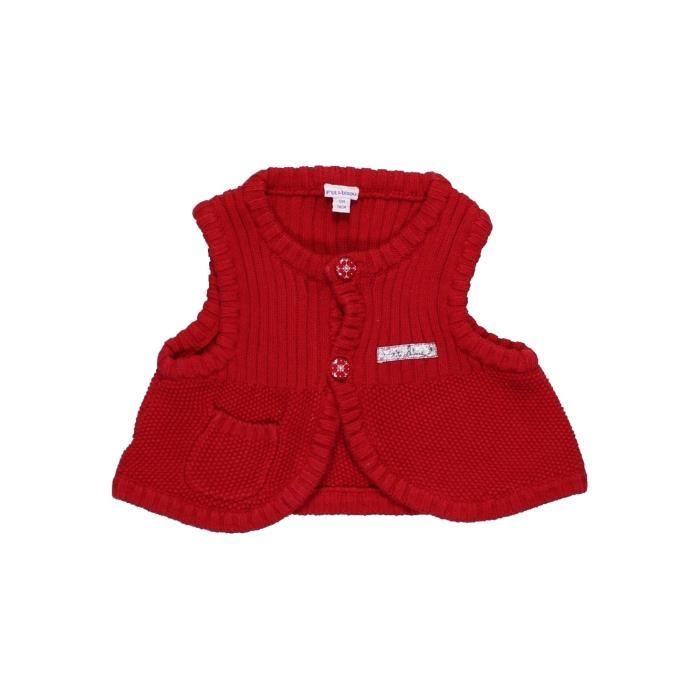 Gilet bébé fille P TIT BISOU 12 mois rouge hiver  996140 -207542940 ... 633fad56a2c
