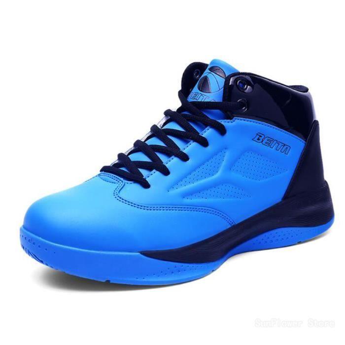 Homme Chaussure Respirant Chaussures Bleu Mode sport Basket de BasketBall de 6xa1BqnY