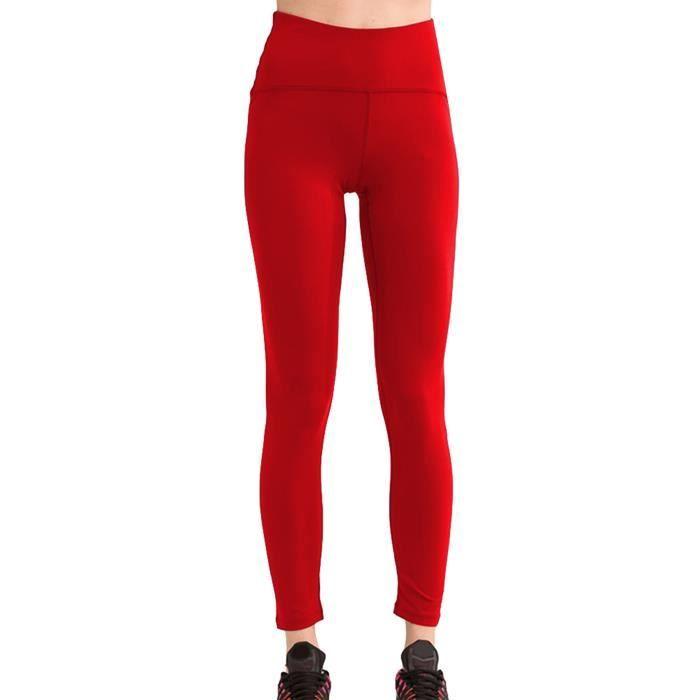 GIFT TOWER Legging de Sport Femme Pantalon de Sport Moulant Taille Haute  Élastique pour Fitness Yoga Jogging Gym Running 7a66ee519b7