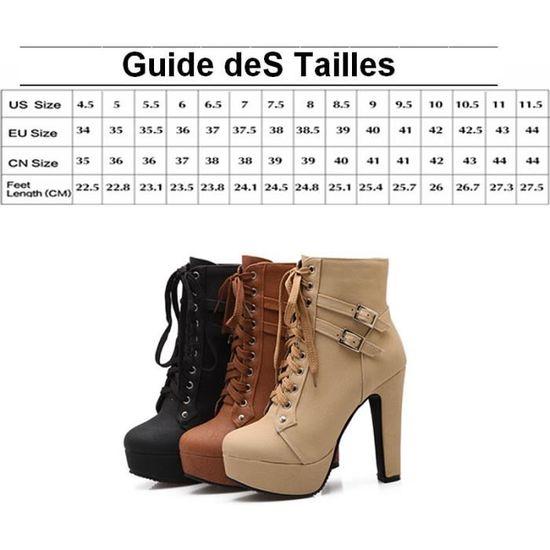 Femme Bottine Décoration D'hiver Marque De heeled Qualité Cuir En Pu Bottines Supérieure High Boucle TwgqFASEnS