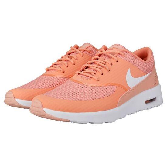 Nike Air Max Thea Premium Femme Baskets corail Rouge Corail
