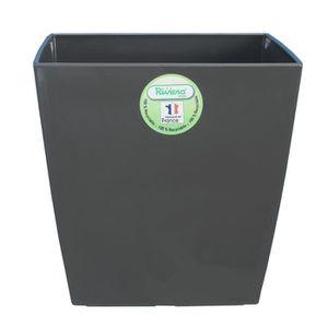 RIVIERA Pot Nuance en plastique 35x35cm - 28l - Gris pailleté