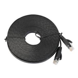 PACK COMPOSANT 10M plat Ethernet CAT6 câble de câble de réseau po