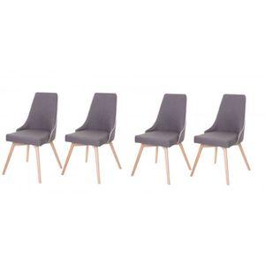 Lot De 4 Chaises De Salle A Manger Brit Style Scandinave Design