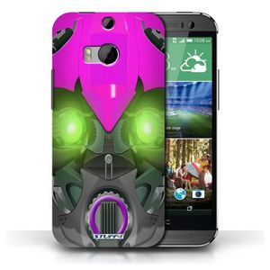 COQUE - BUMPER Coque HTC One/1 M8 / Bumble-Bot Violet Design / Ro