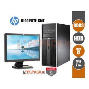 UNITÉ CENTRALE + ÉCRAN  HP 8100 Elite CMT (µATX) Intel Core i5 8GO 3TO EC