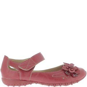 BABIES Chaussures femme rouges confort décor fleur et str