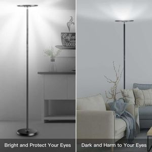 LAMPADAIRE Scandinave Lampadaire LED multicouleur avec téléco