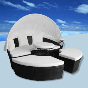 Salon de jardin boule empilable en polyrésine e… - Achat / Vente ...