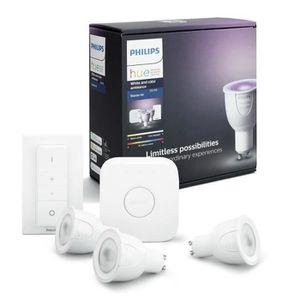 AMPOULE INTELLIGENTE PHILIPS HUE Kit de démarrage 3 ampoules White&Colo
