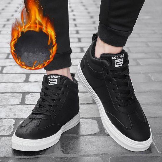 0aafbe341a45 Sneaker Homme 2018 Marque De Luxe Chaussures Qualité SupéRieure Nouvelle  arrivee Noir Noir - Achat   Vente basket - Soldes  dès le 9 janvier !  Cdiscount