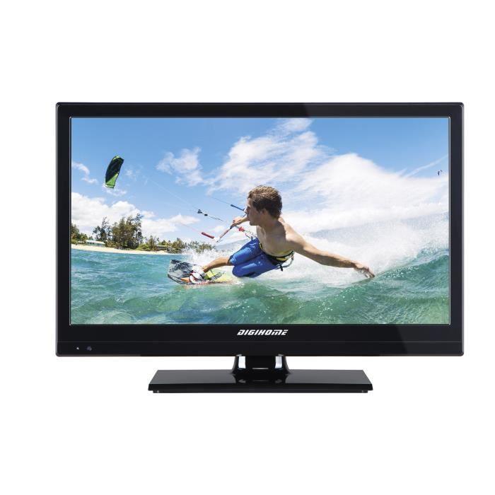 Téléviseur LED camping car 12V - MPEG4 - 20'' - Version récepteur satellite module CI+ FRANSAT