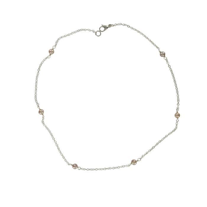 Satc Ch042 - Collier Femme - Argent 925-1000 - Perle - Perle D Eau Douce Z8P0R