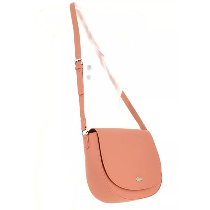 Lacoste Sac Crossover Femme Rose