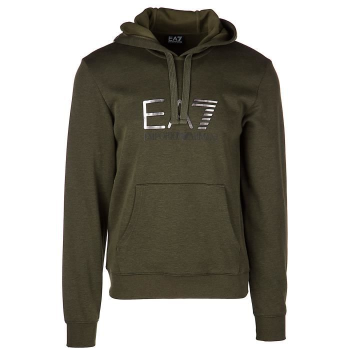 ' Shirts Achat Sweat Capuche Ea7 Emporio Vert Armani Homme 4nwfxwH cb5bfe76489