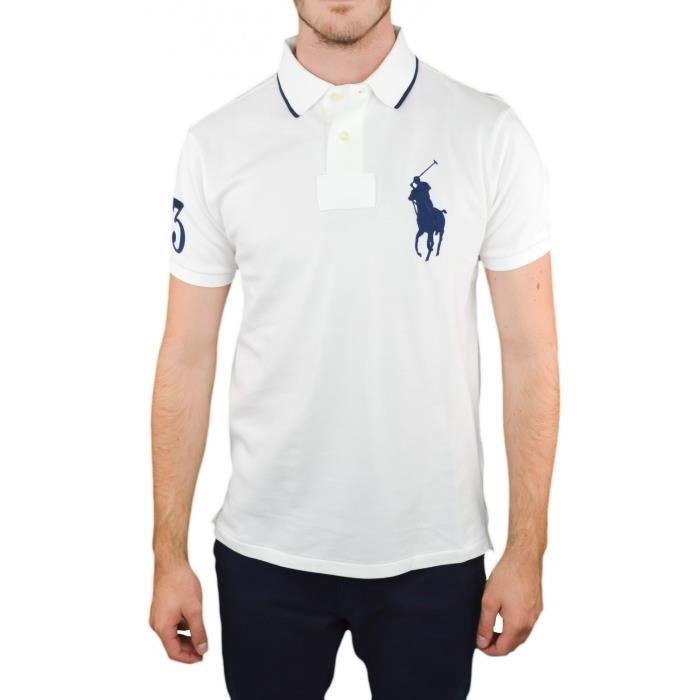 Polo Ralph Lauren Big Poney blanc pour homme - Couleur  Blanc - Taille  XXL 810bc8a44ea2