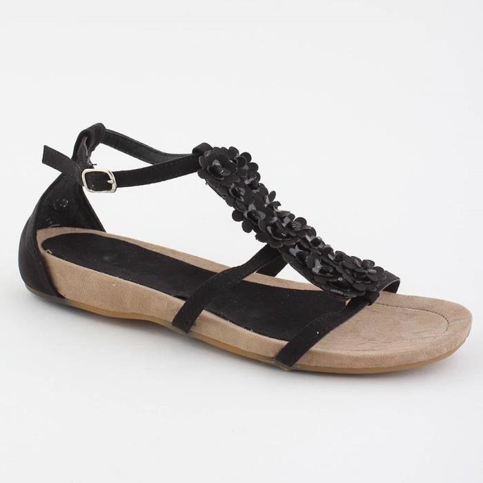 bb798d6a0 Sandales femme compensée noire RITA - Couleur:Noir Pointure:4 Noir ...