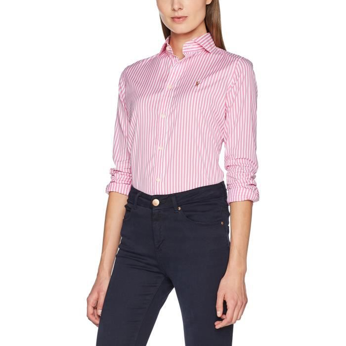 Ralph Long Brw Blouse Kendal Shirt 1gv00d Lauren Sleeve Polo Taille 36 Women's Y7gbf6yv