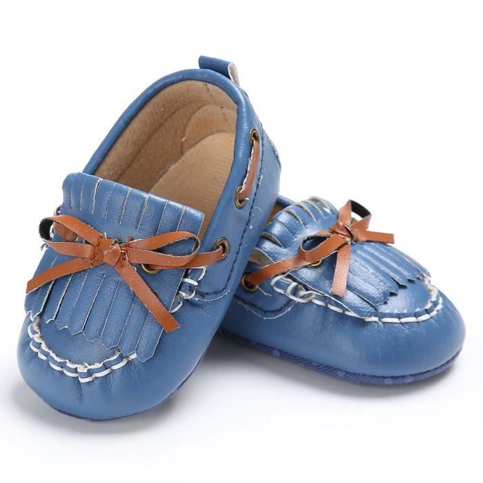 BOTTE Chaussures de bébé garçon fille nouveau-né cuir crèche chaussures à semelle souple@Jeunesse tibétaineHM