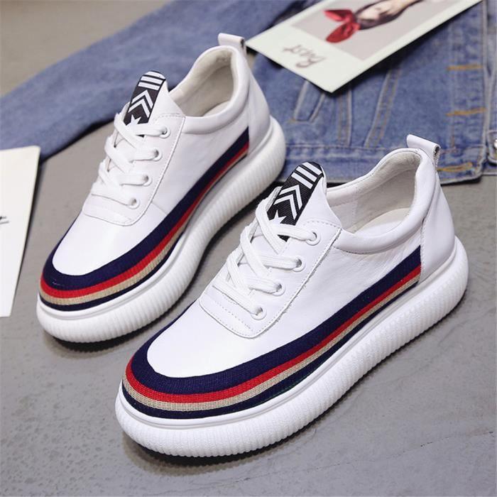 39 Mode Sneakers Meilleure Femmes Qualité Noir 35 Chaussures blanc Durable Hhx Beau Confortable fXqwqz