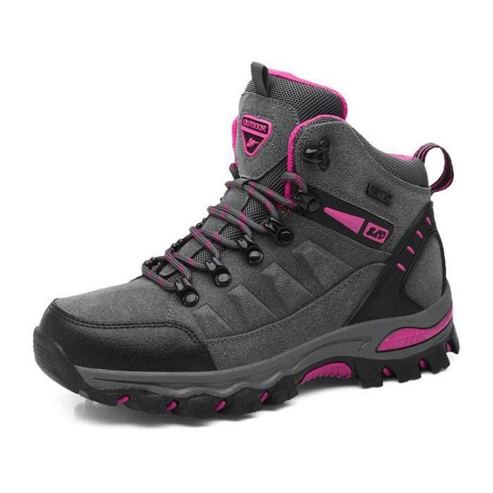 Maintien Respirant Randonnée Imperméable Chaussures Confort Gris Femme 5j4LRA