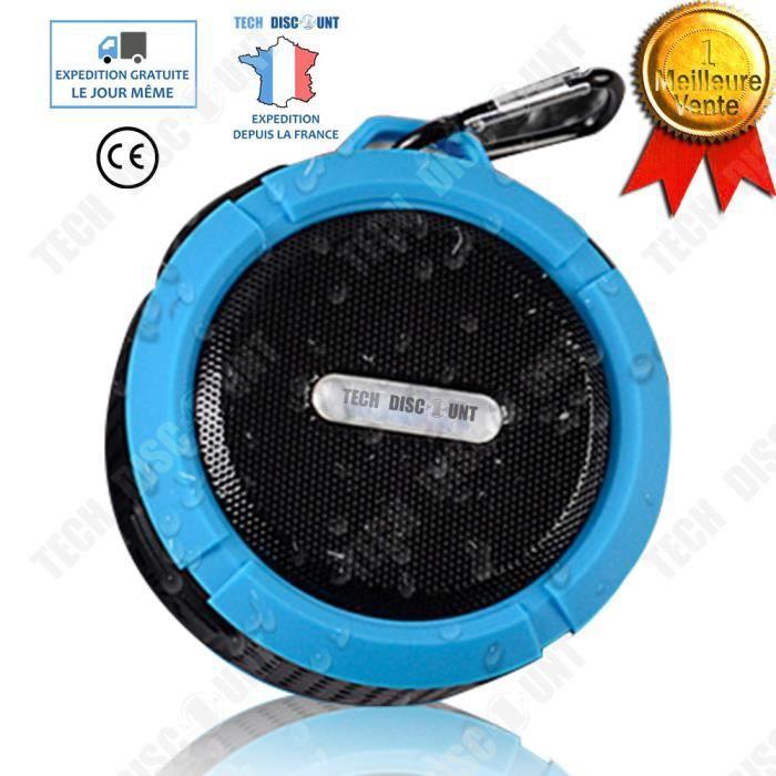 Td® Haut-parleur Enceinte Portable Sans Fil Bluetooth Waterproof Puissant Sport Ventouse Randonnée Salle De Bain Étanche Main Libre