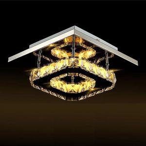 PLAFONNIER NEUFU 20cm Plafonnier LED Éclairage en Cristal Lum