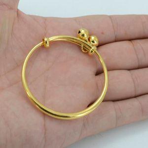 BRACELET - GOURMETTE Bracelet pour bébé Plaqué or 24 carats Bracelet en