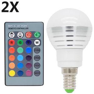 AMPOULE - LED 2X E14 RGB Ampoules LED Multicolore 3W RGB LED 16