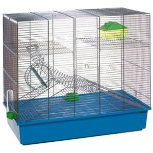 CAGE Cage bleue à étages Spiral pour rongeurs