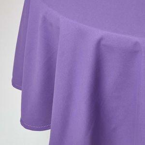 NAPPE DE TABLE Nappe Ronde 100% coton - Violet - à˜180 cm fba6601ffde