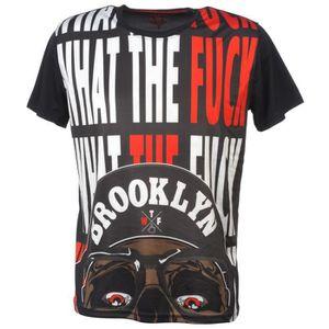 T-SHIRT Tee shirt manches courtes Bro02 noir mc tee - Free