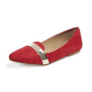 SLIP-ON Ten Ventres en cuir de daim rouge pour femme DM21T