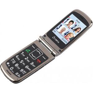 Téléphone portable Style Plus olympique aînés noirs confort téléphone
