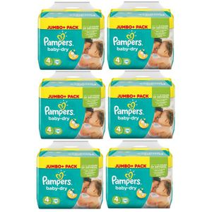 COUCHE Pampers Baby Dry Taille 4 Maxi 7-18kg Jumbo Plus P