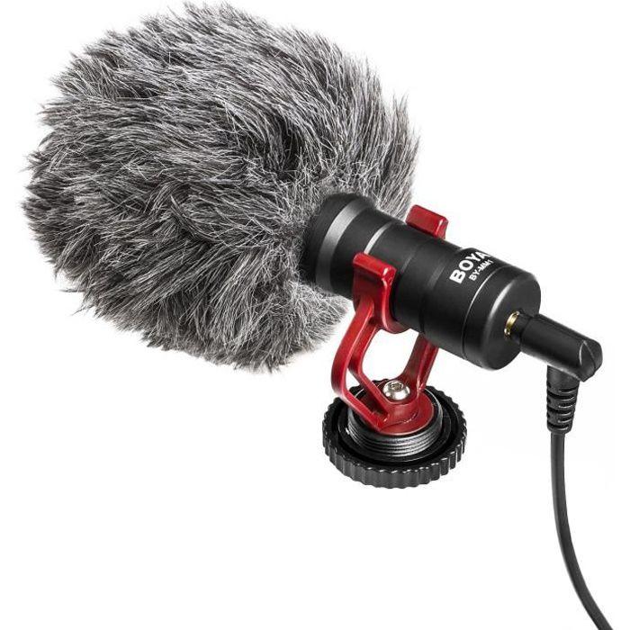 BOYA MM1 Microphone hyper compact Cardioide à condensateur - Câble de sortie TRS & TRRS