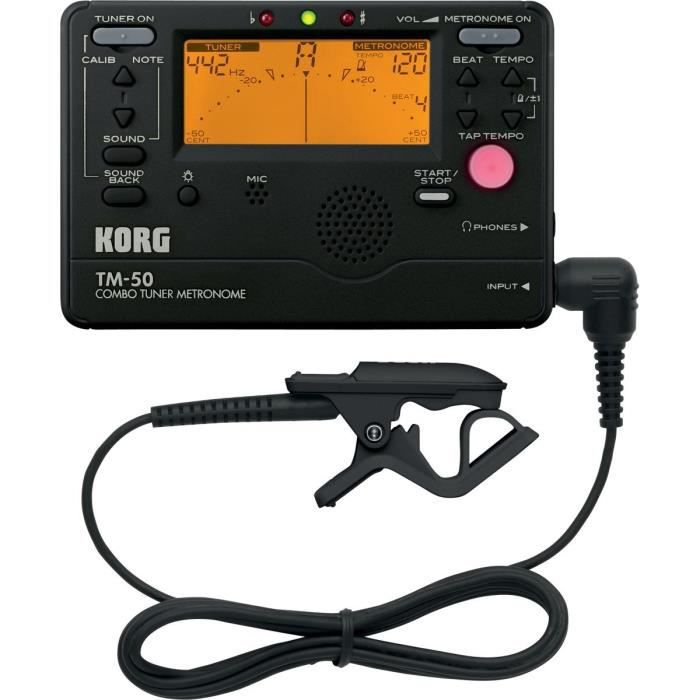 KORG TM50-BK Accordeur / Métronome - Noir