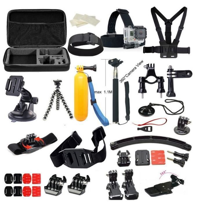 kit gopro accessoire pour gopro 4 3 2 3 et gopro achat vente pack accessoires photo kit. Black Bedroom Furniture Sets. Home Design Ideas