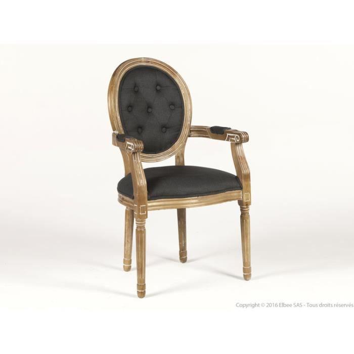 Chaise en bois avec accoudoir achat vente chaise en for Chaise bois avec accoudoir pas cher