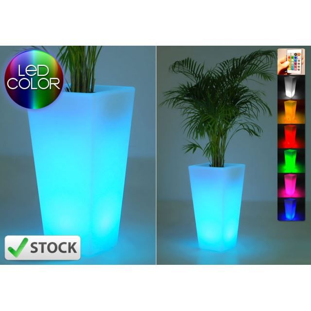 vase lumineux led square achat vente vase lumineux