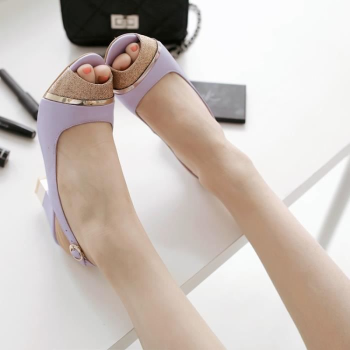 talons hauts-Couleurs assorties Thick Heel Wome...