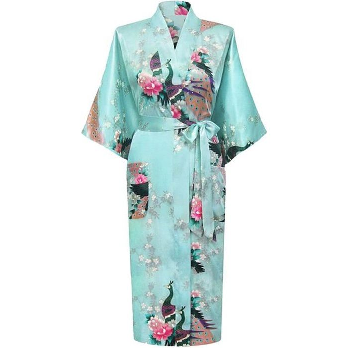 kimono japonais femme achat vente kimono japonais femme pas cher cdiscount. Black Bedroom Furniture Sets. Home Design Ideas
