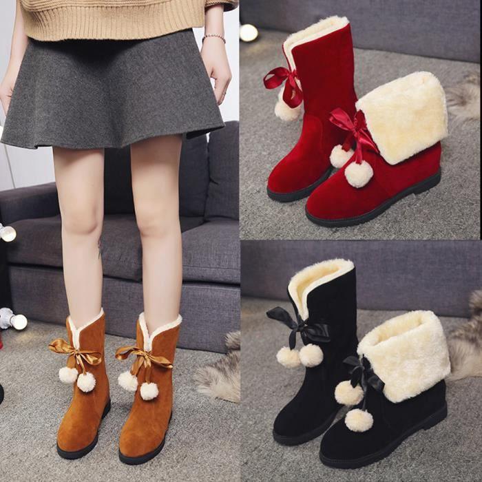 Mode De Poils Hiver Femme Chaussures Neige Cheville Bottes LSMpzUGqV