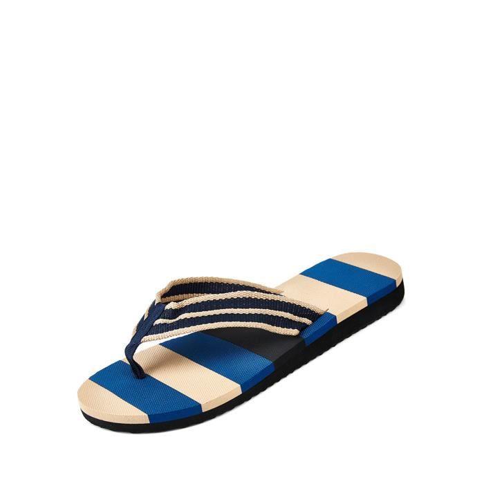 chaussures multisport Couleur rayé flip flops d'homme bloc plates Casual 5034464