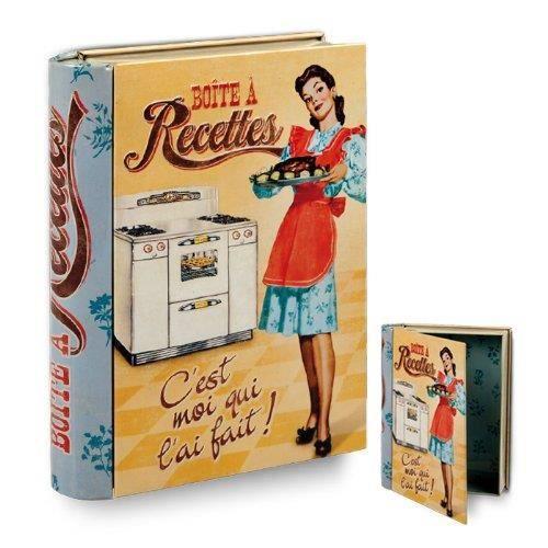 boite recettes cuisine originale en forme de livre moi qui l 39 ait fait en m tal rangement. Black Bedroom Furniture Sets. Home Design Ideas