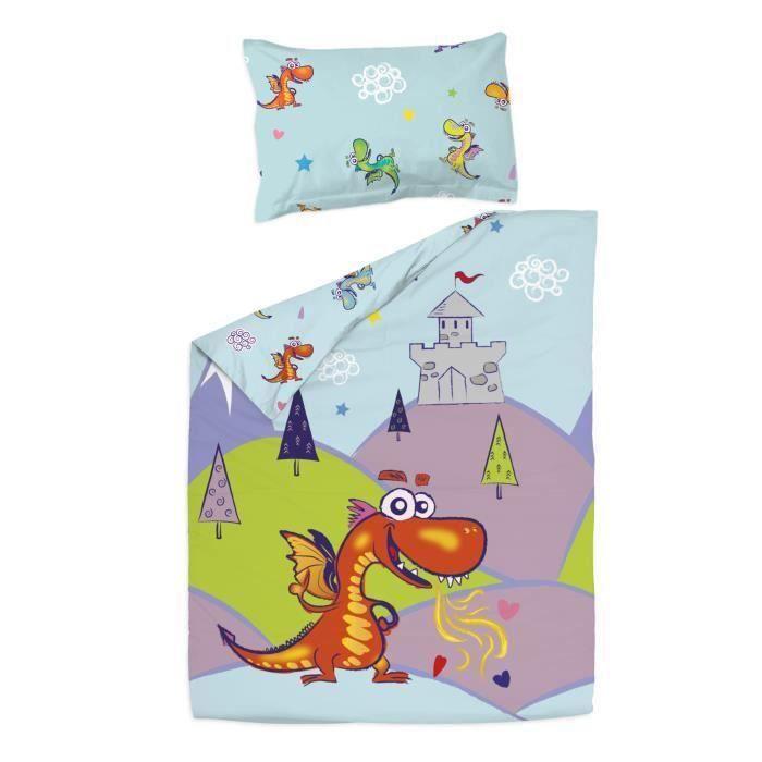 Dragons - Housse de couette 120x150 cm et